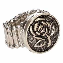 Zilveren ring roos chunk