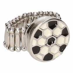 Zilveren ring voetbal chunk