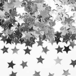 Zilveren sterren confetti zakje 14 gram