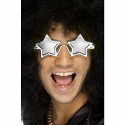 Zilveren sterren disco bril volwassenen