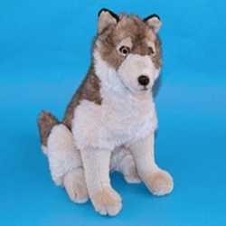 Zittende knuffel wolf 45