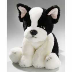 Zittende pluche knuffel Franse bulldog 24