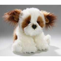 Zittende pluche knuffel shih tzu hond 24