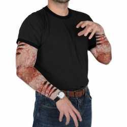 Zombie halloween verkleedaccessoire mouwen volwassenen