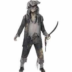 Zombie piraten kostuum heren