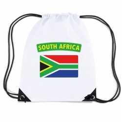 Zuid afrika nylon rugzak wit zuid afrikaanse vlag