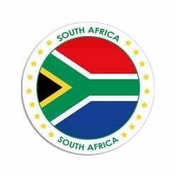 Zuid-Afrika sticker rond 14,8