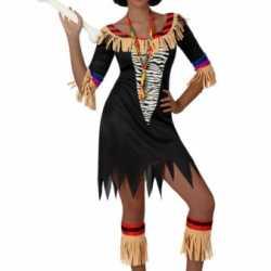 Zulu kostuum dames zebra print