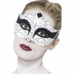 Zwaan oogmasker wit zwart