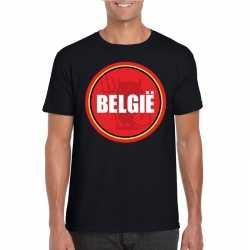 Zwart belgie shirt duivel in cirkel shirt heren