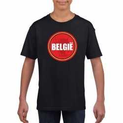 Zwart belgie shirt duivel in cirkel shirt kinderen