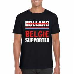 Zwart belgie shirt teleurgestelde holland supporters heren