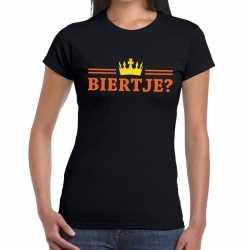 Zwart biertje kroon shirt dames