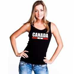 Zwart canada supporter singlet shirt/ tanktop dames