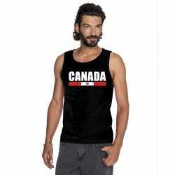 Zwart canada supporter singlet shirt/ tanktop heren