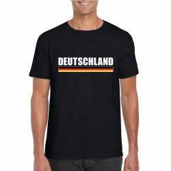 Zwart duitsland supporter t shirt heren