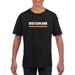 Zwart duitsland supporter t shirt kinderen