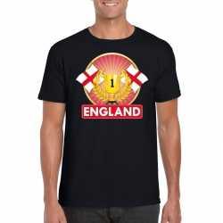 Zwart engeland supporter kampioen shirt heren