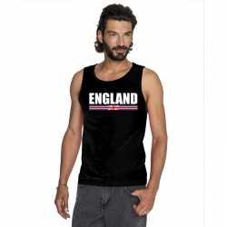 Zwart engeland supporter singlet shirt/ tanktop heren
