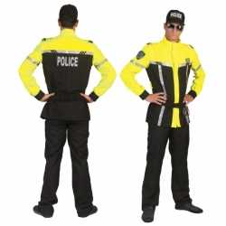 Zwart geel politiepak heren
