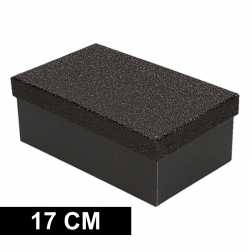 Zwart glitter cadeaudoosje 17 rechthoekig