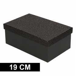 Zwart glitter cadeaudoosje 19 rechthoekig