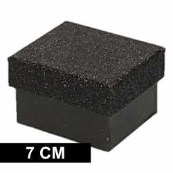 Zwart glitter cadeaudoosje 7 rechthoekig