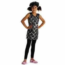Zwart glitter pailletten jurkje meisjes