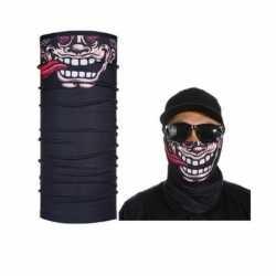 Zwart grappig/funny gezicht biker masker volwassennen
