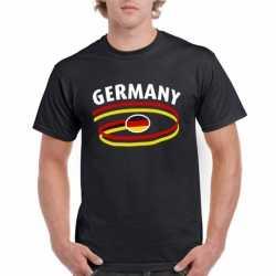 Zwart heren t-shirt Duitsland