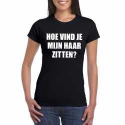 Zwart hoe vind je mijn haar zitten? shirt dames