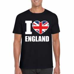 Zwart i love engeland fan shirt heren