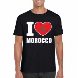 Zwart i love marokko fan shirt heren