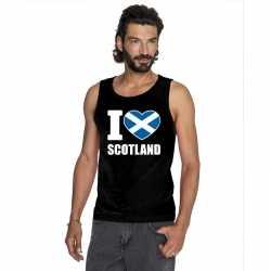 Zwart i love schotland fan singlet shirt/ tanktop heren