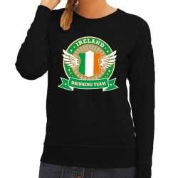 Zwart ireland drinking team sweater dames