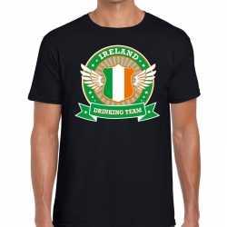 Zwart ireland drinking team t shirt heren