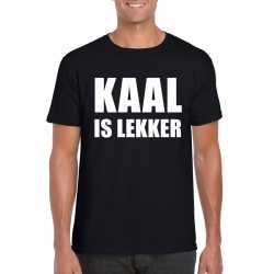 Zwart kaal is lekker shirt heren
