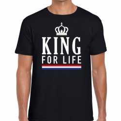 Zwart king for life t shirt heren