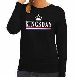 Zwart kingsday hollandse vlag sweater dames