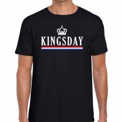 Zwart kingsday kroontje t shirt heren