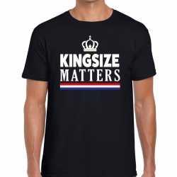 Zwart koningsdag kingsize matters t shirt heren