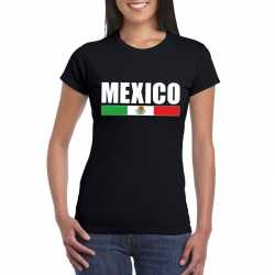 Zwart mexico supporter t shirt dames