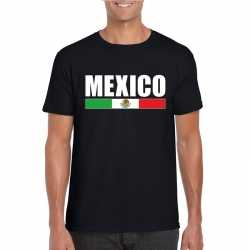 Zwart mexico supporter t shirt heren