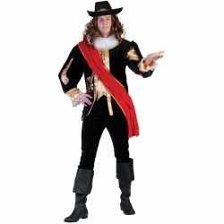 Zwart middeleeuws luxe kostuum heren