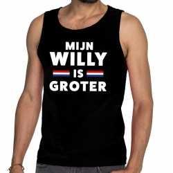 Zwart mijn willy is groter tanktop / mouwloos shirt voor