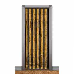 Zwart/oranje deurgordijn folie 240