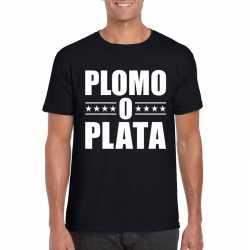 Zwart plomo o plata shirt heren