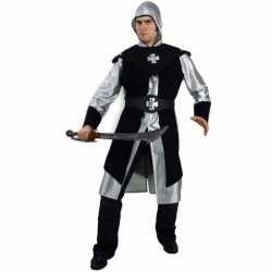 Zwart ridder kostuum heren