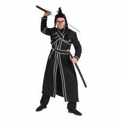 Zwart samoerai verkleed kostuum heren