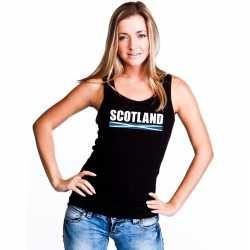 Zwart schotland supporter singlet shirt/ tanktop dames